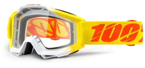 gafas 100% accuri zest mx lente transparente/naran amarillo/