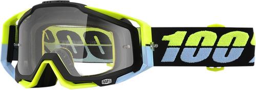 gafas 100% racecraft 2016 mx c/lentes transparentes amarilla