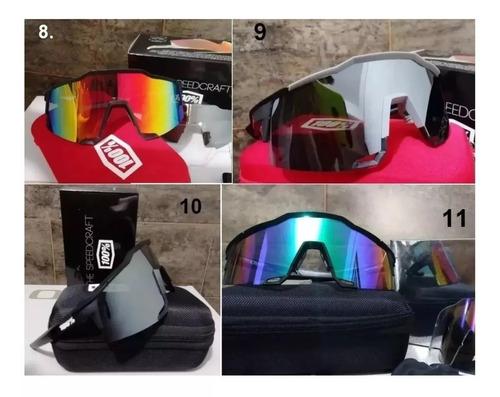 gafas 100% speedcraf ciclismo patinaje peter sagan 3 lentes