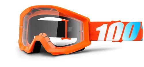 gafas 100% strata 2013 mx/offroad lente transparente naranja