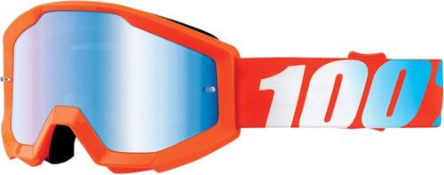 gafas 100% strata junior lentes espejo joven naranja os