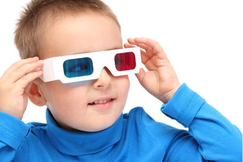 gafas 3d anaglifas de cartón rojo/cyan cine en casa película
