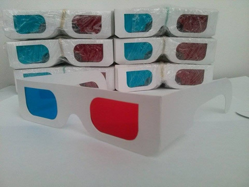 gafas 3d anaglificas rojo/cian, peliculas, fotos, youtube 3d