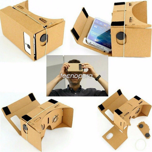 gafas 3d cardboard para smartphone - realidad virtual google