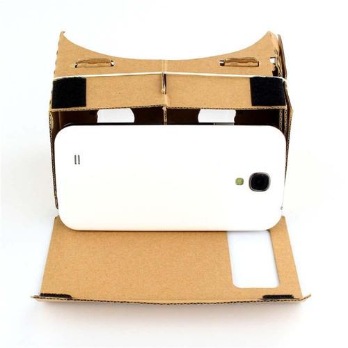 gafas 3d carton realidad virtual compatible pantalla 5''