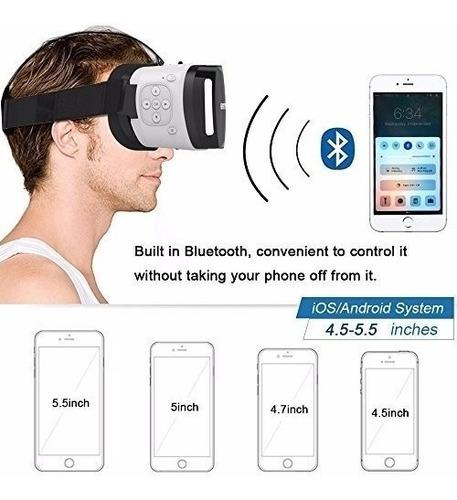 gafas 3d realidad virtual bluetooh 4.0. mundotek
