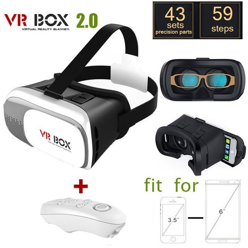 gafas 3d realidad virtual vr box originales con control !!!