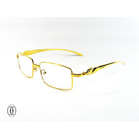 172f7fd0a30ea Montura Optica Cartier 5318 Gold Panthere Opt0001 France - Gafas en ...