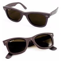 Gafas De Sol Ray-ban Wayfarer Leather Cuero Rb2140qm 1152/6n