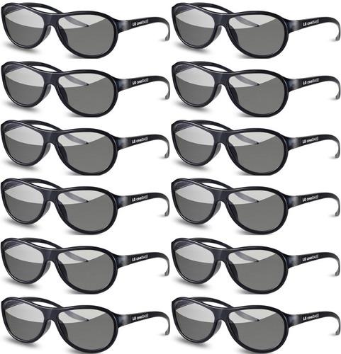 gafas anteojos lentes 3d lg agf310 cinema pasivos x 12