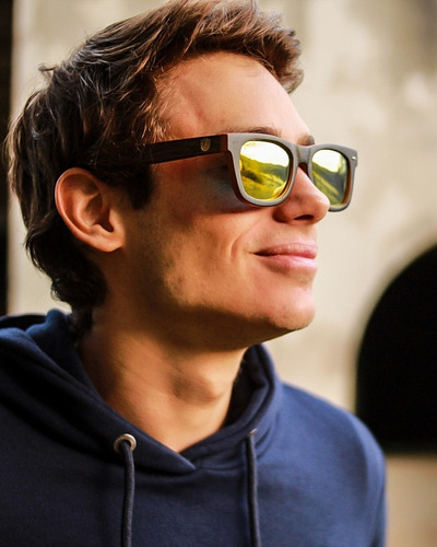 gafas  anteojos sol 100% madera woot8 - black bamboo