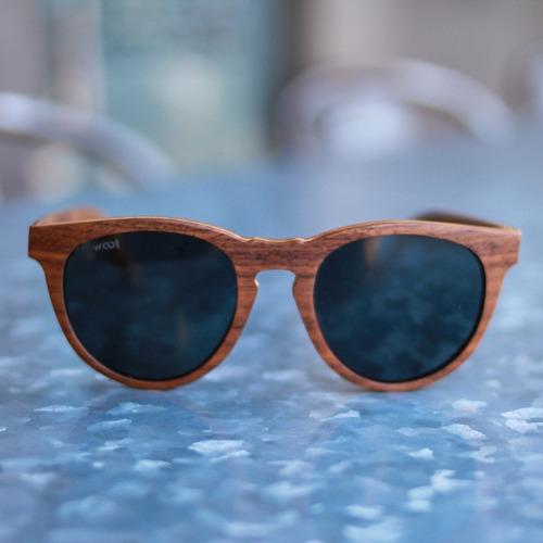 gafas  anteojos sol 100% madera woot8 - classic walnut