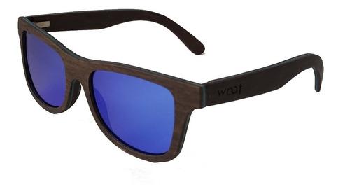 gafas anteojos sol 100% madera woot8 - glam ebony blue