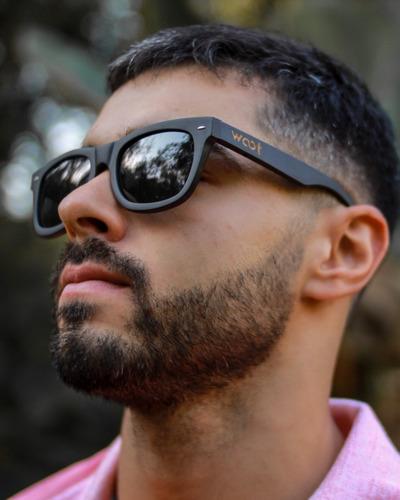 gafas  anteojos sol 100% madera woot8 - way black bamboo