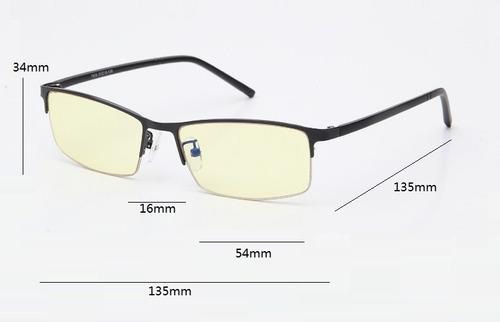 gafas antiradiación luz protección unisex lentes vista ambar