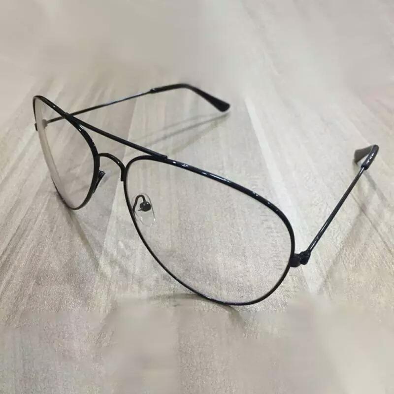 b89efea076 gafas aviador transparentes. unisex armazón color negro. Cargando zoom.