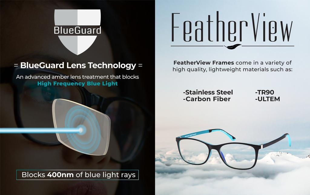Gafas Bloqueo Luz Azul - Blueguard Marco En Fibra De Carbono ...