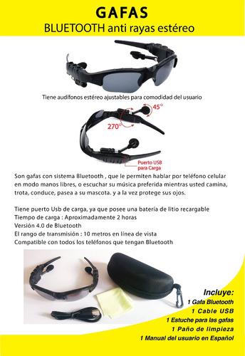 gafas bluetooth ideal para deportes, manejar, caminata