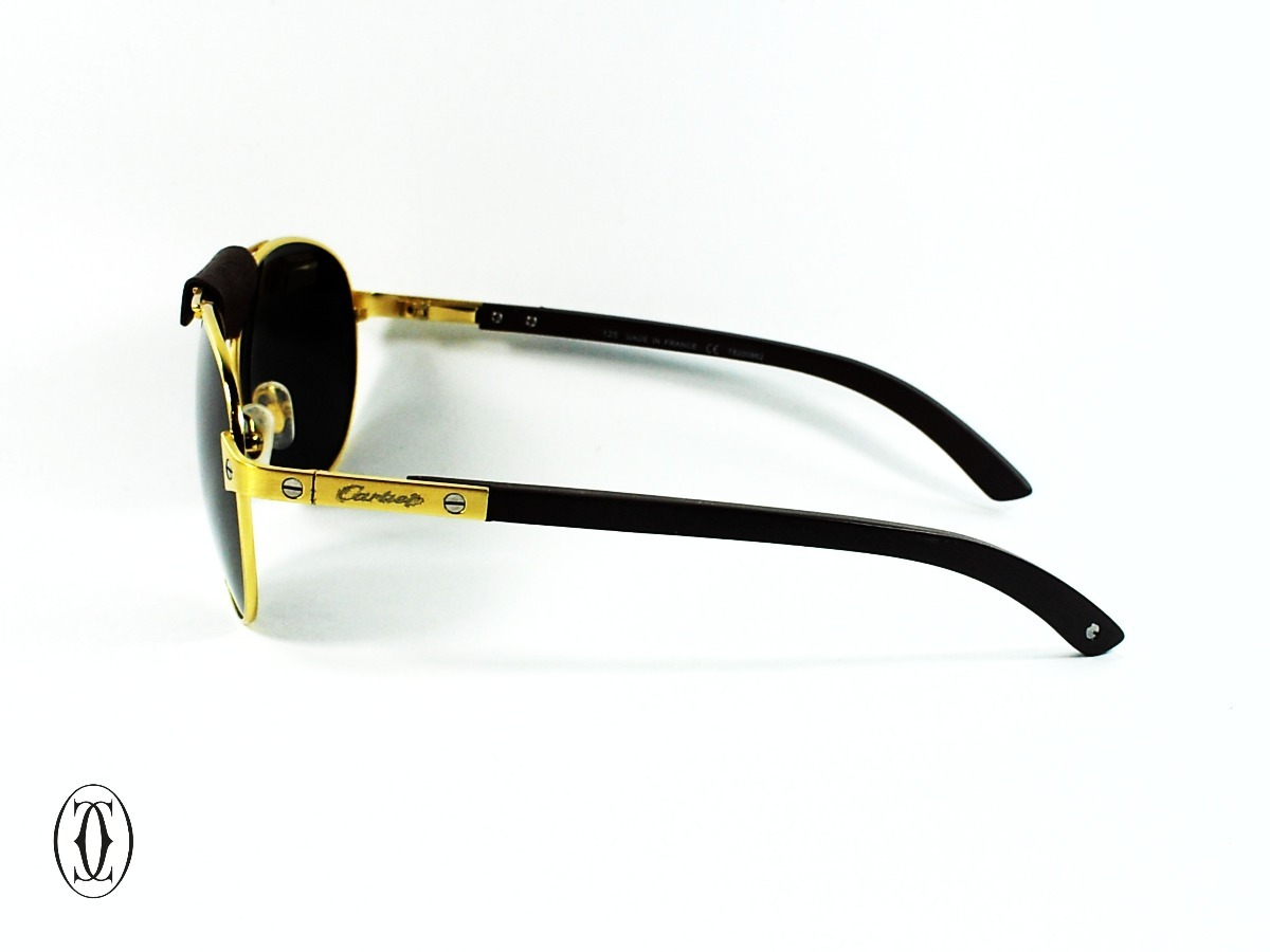6168f72302fa4 gafas cartier® santos dumont wood gold edition uv400 av0127a. Cargando zoom.