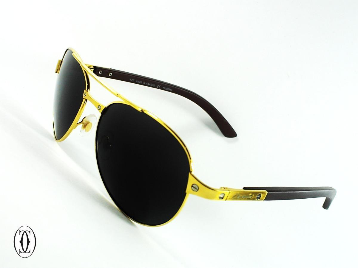 6e23ae5156c06 gafas cartier® santos dumont wood gold edition uv400 av0127b. Cargando zoom.