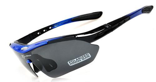 gafas ciclismo con 5 lentes bici rockbros uv400 polarizado