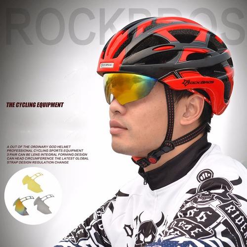 gafas ciclismo filtro uv400 polarizado 4 lentes + obsequios