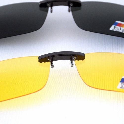 gafas clip on cubrelentes, conducción nocturna polarizados