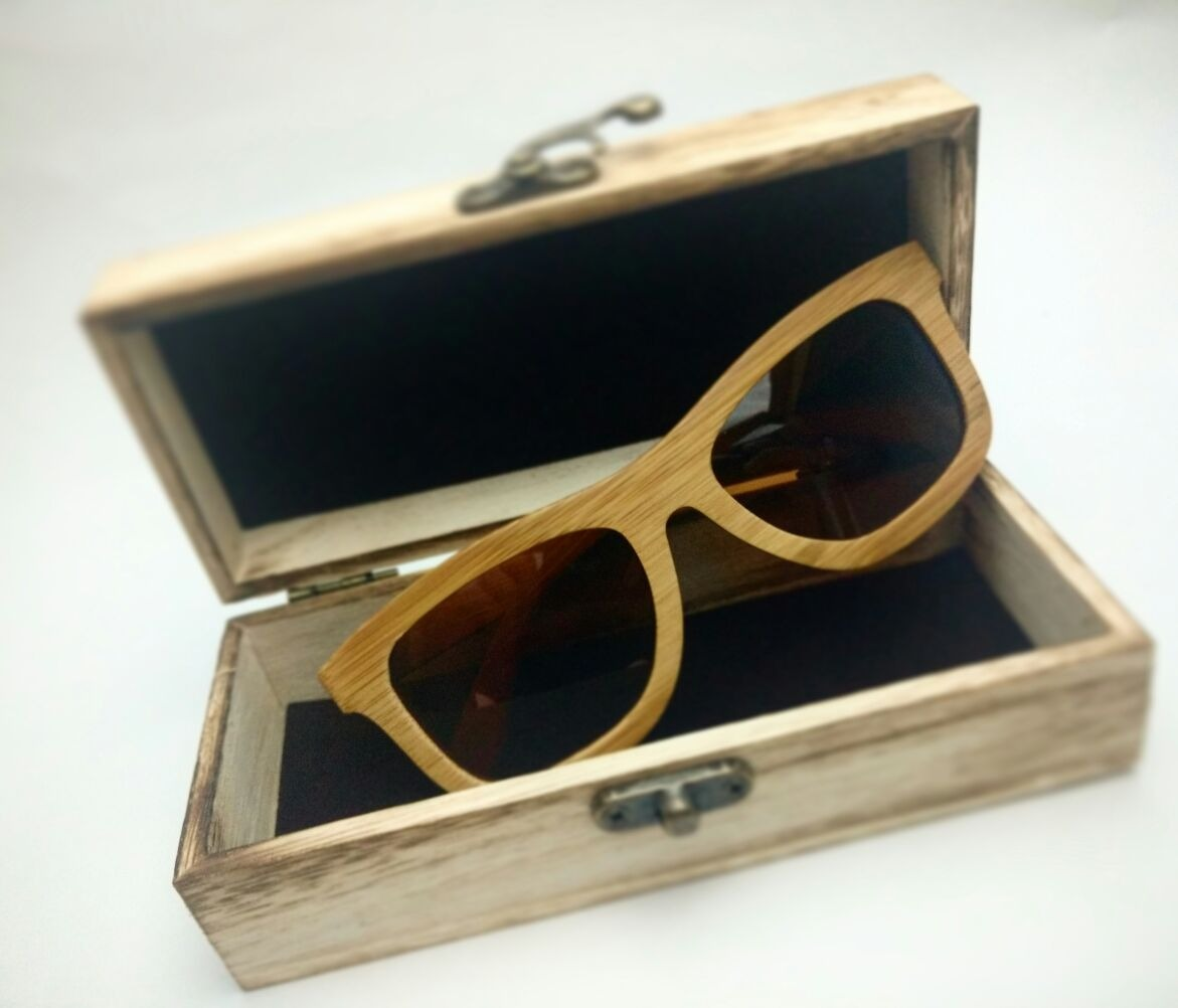 Gafas De Bambú Lente Espejo Filtro Uv400 Madera Real - $ 89.900 en ...