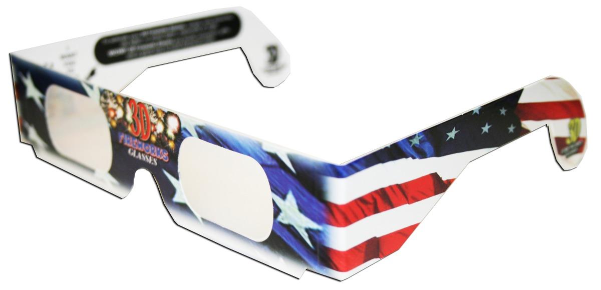 8b09be1049 Gafas De Fuegos Artificiales 3d Lentes De Difracción Bandera ...
