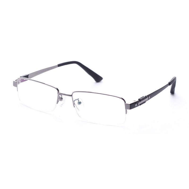 Gafas De Los Hombres Marcos De Titanio Medio... (gray) - $ 46.990 en ...