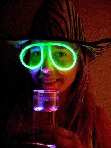 gafas de neón de 12 horas de duración glow stick