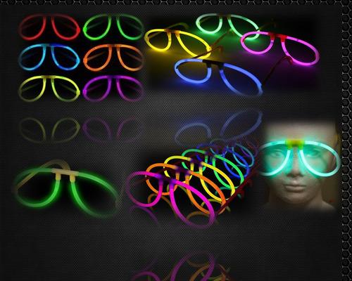 gafas de neon glowsticks x 12