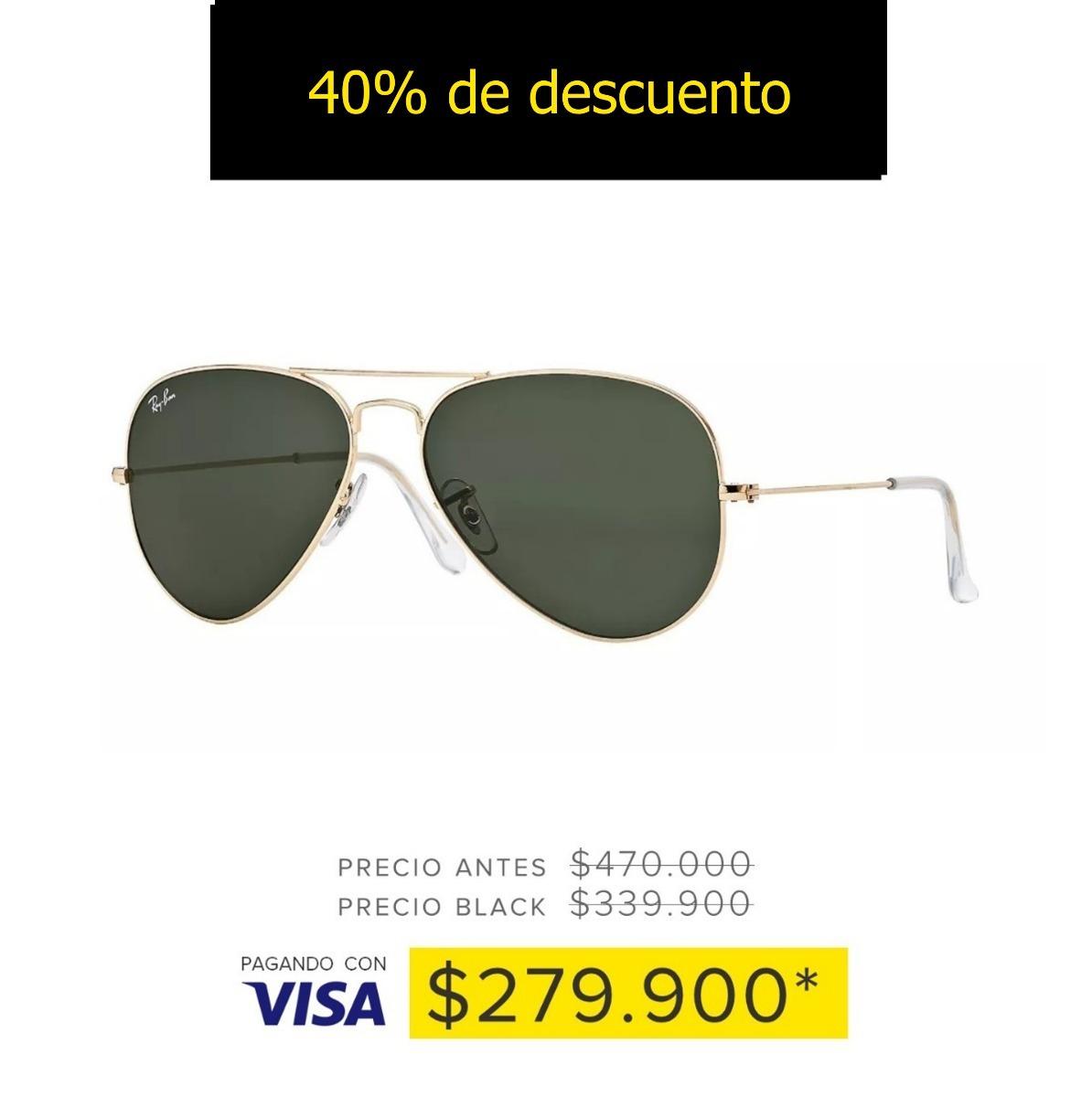 Gafas De Sol Aviador Ray-ban® Aviator Classic Lente G-15 -   470.000 ... 4b111c8f1c