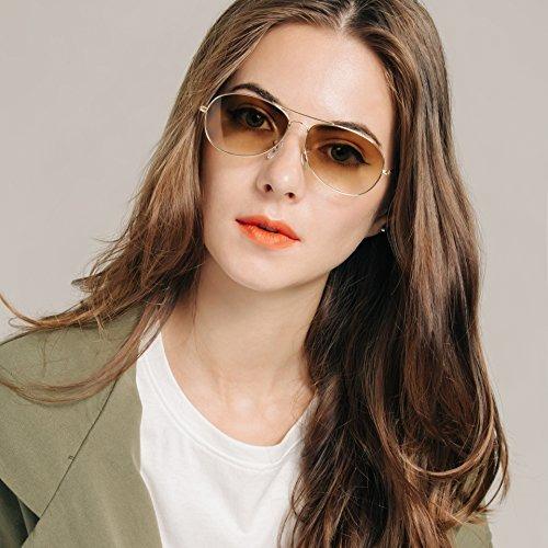 0e888bd050 Gafas De Sol Aviator Para Cara Pequena, Wenlenie Gafas De So ...