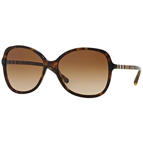 4ff1d23680 Gafas De Sol Burberry Be4197 Para Mujer Dark Havana Brown ...