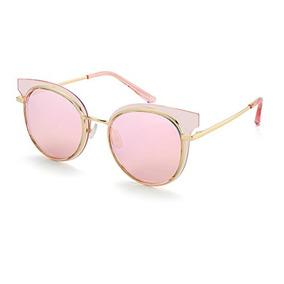 356595bee1 Gafas De Sol Cat Eye Metal Frame Para Mujer Uv400 Round Pola