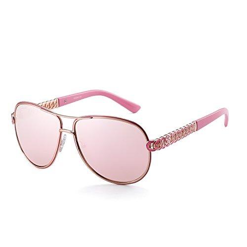 692339ff05 Gafas De Sol Clasicas Aviador Para Mujer Marco De Metal Colo ...