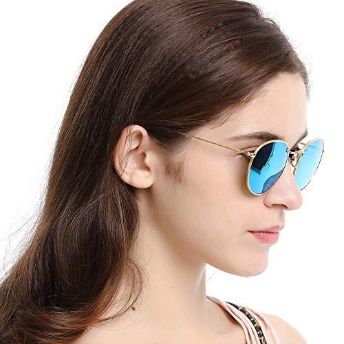 7cad5d4178 Gafas De Sol Con Cristales Redondos Retro Lentes De Cristal ...
