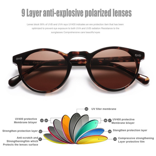 gafas de sol de la vendimia redonda - gafas de sol polarizad