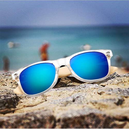 821a8c827b Gafas De Sol De Madera De Bambú Con Azul Lente Polarizada De - $ 489 ...
