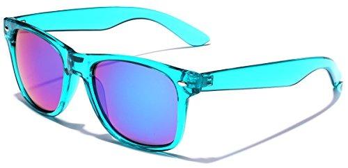 daed75acd53bd Gafas De Sol De Moda Retro 80s Lente De Espejo Translucida N ...
