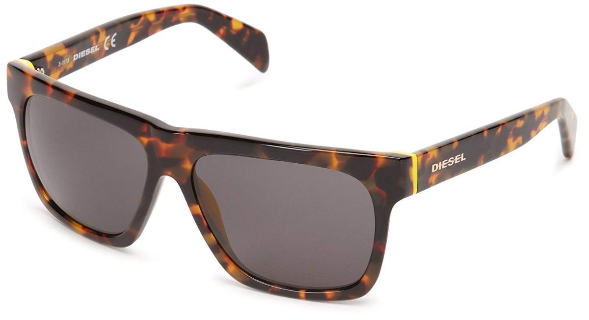 3ca080bada8c4 gafas de sol diesel dl00725856a - lente negro marco café. Cargando zoom.