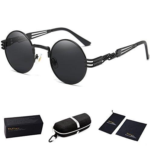 Excelente calidad envio GRATIS a todo el mundo fabricación hábil Gafas De Sol Dollger Black Round John Lennon Gafas De Sol