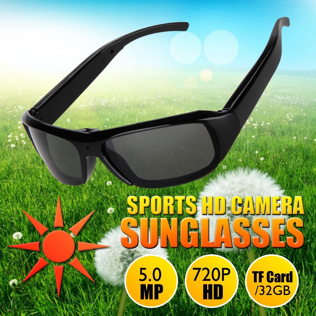 b859754ace gafas de sol espía hd con grabador de cámara de vídeo dig. Cargando zoom.