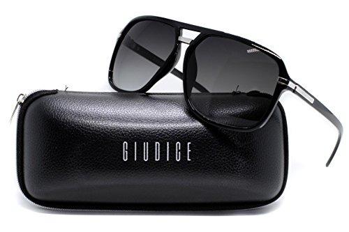 a6e4a54a40a02 Gafas De Sol Estilo Aviador Giudice Black Frame Para Hombre ...