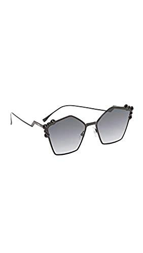 207cb4a78c Gafas De Sol Fendi Para Mujer, Negro Gris Oscuro, Talla Un ...