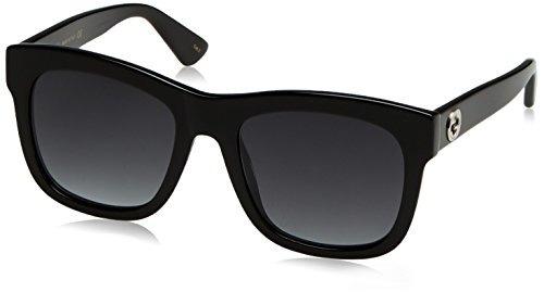 gafas de sol gucci retro de 54 mm negro / gris