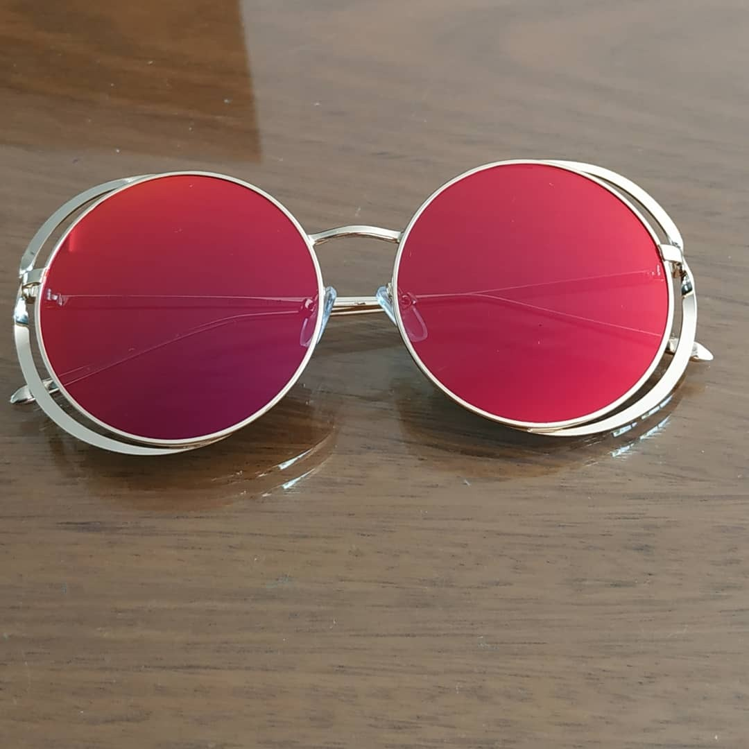 ded9a2aa2b gafas de sol importadas espejadas round color rojo metal2019. Cargando zoom.