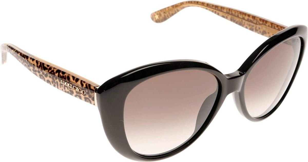 786018d5df gafas de sol jimmy choo tita/s - lente marrón marco negro. Cargando zoom.