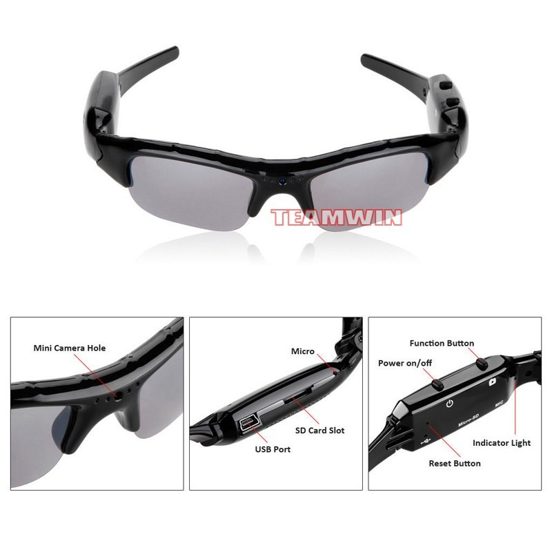 gafas de sol, lentes espia con camara de video fotos hd 2017